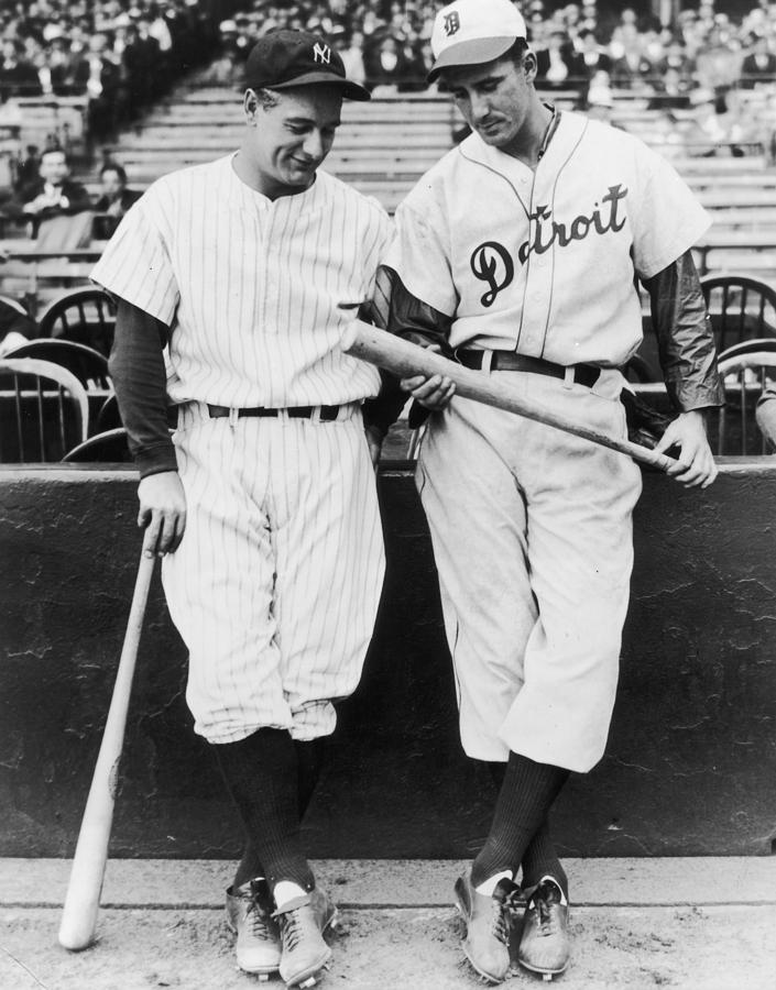 Hank Greenberg And Lou Gehrig Photograph by Fpg