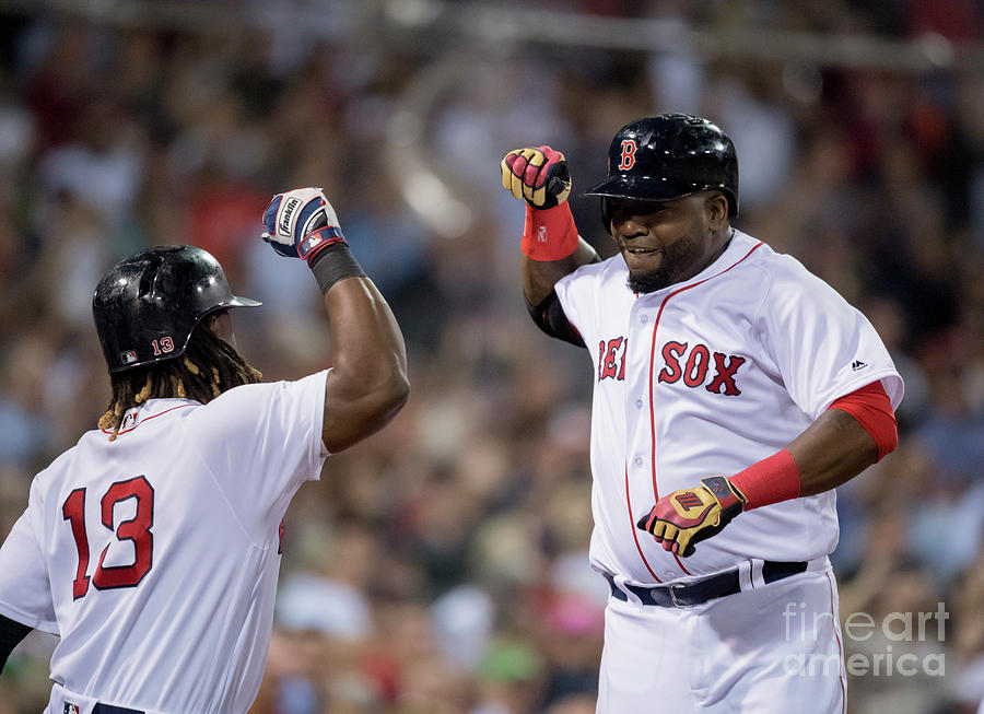 Hanley Ramirez and David Ortiz Photograph by Michael Ivins/boston Red Sox