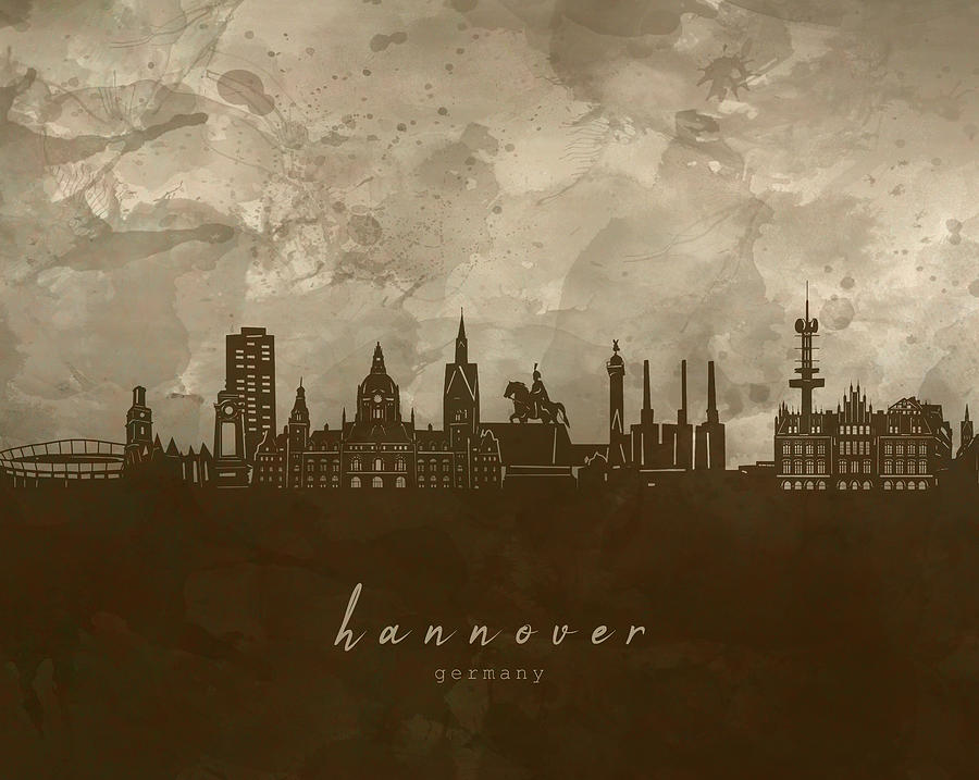 Hannover Digital Art - Hannover Skyline Panorama 4 by Bekim M