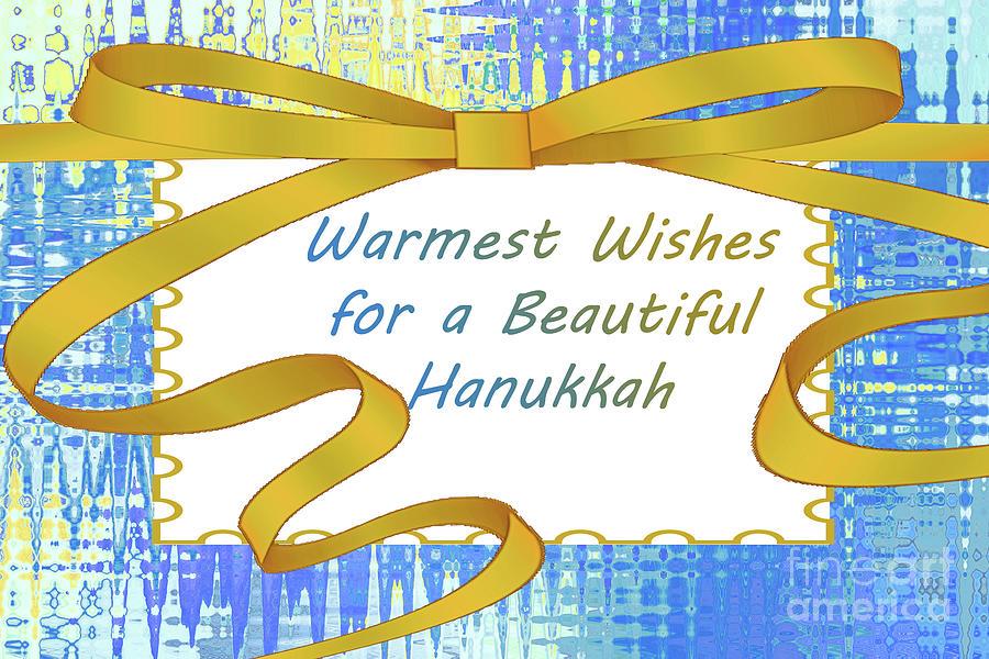Hanukkah Greeting Card by Regina Geoghan