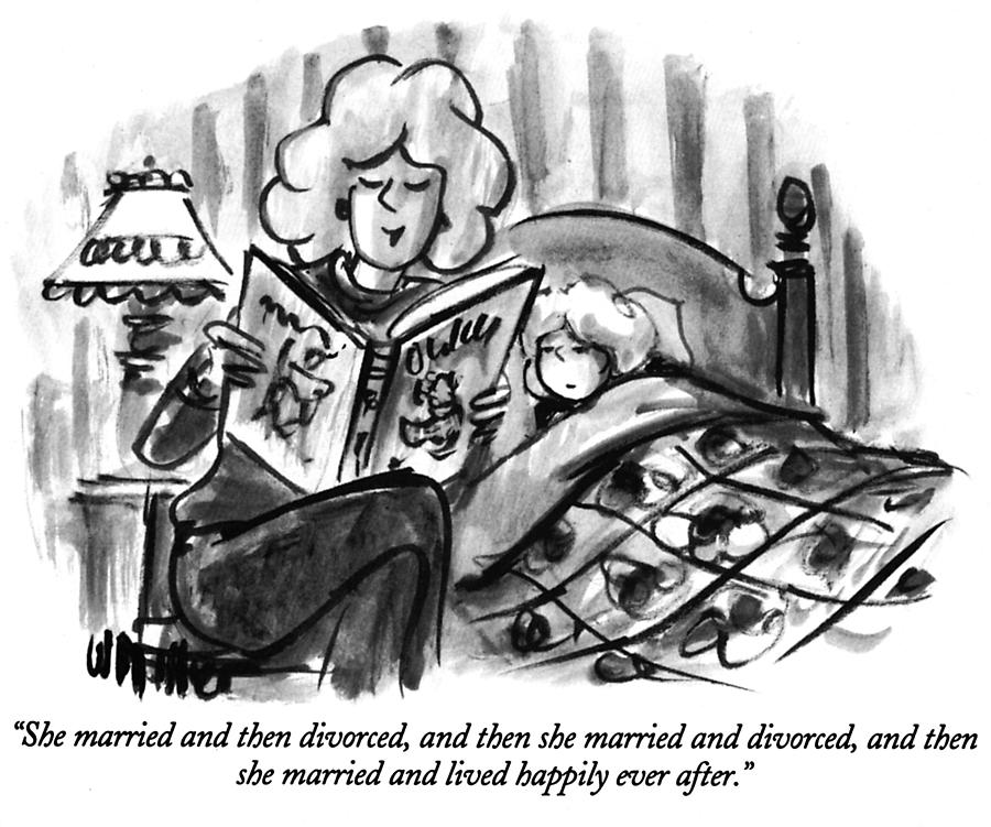 Happily Ever After Drawing by Warren Miller