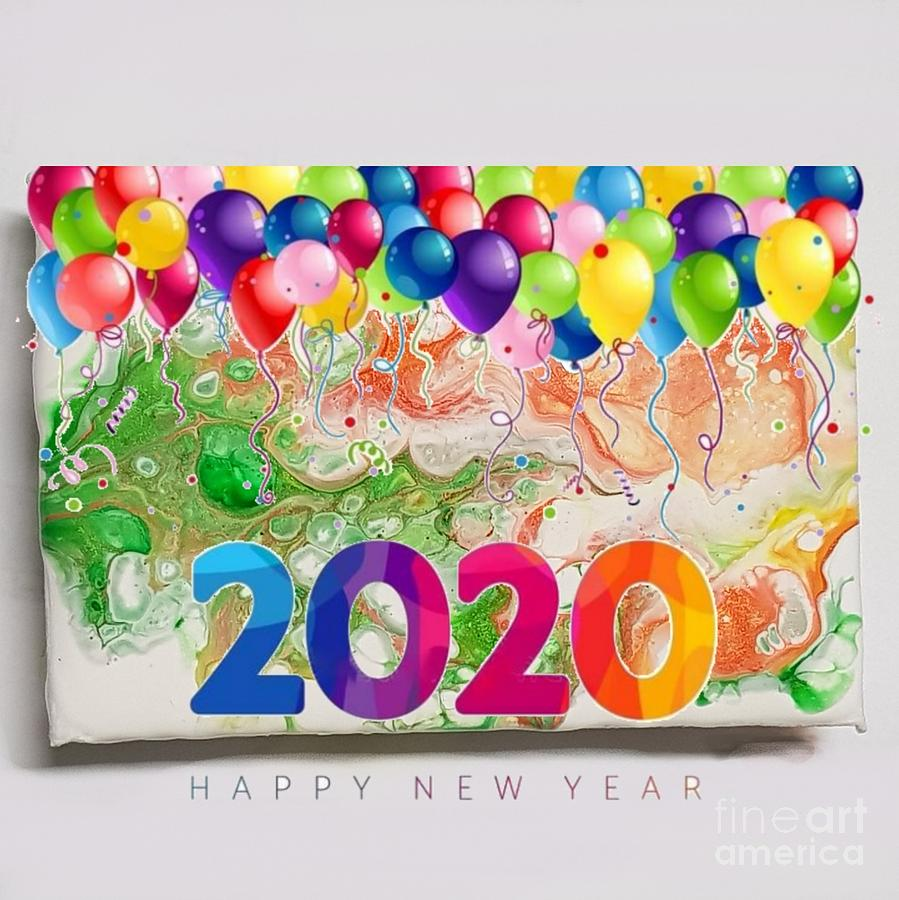 Happy Mixed Media - Happy 2020 by Paola Baroni