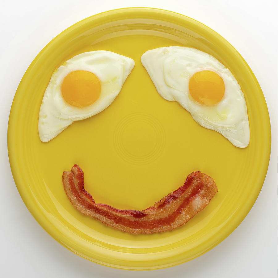 Happy Breakfast Square Photograph