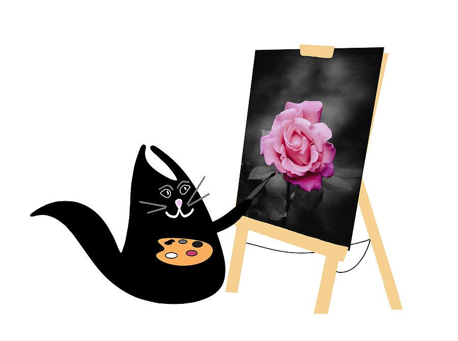 Happy Cat The Artist Digital Art