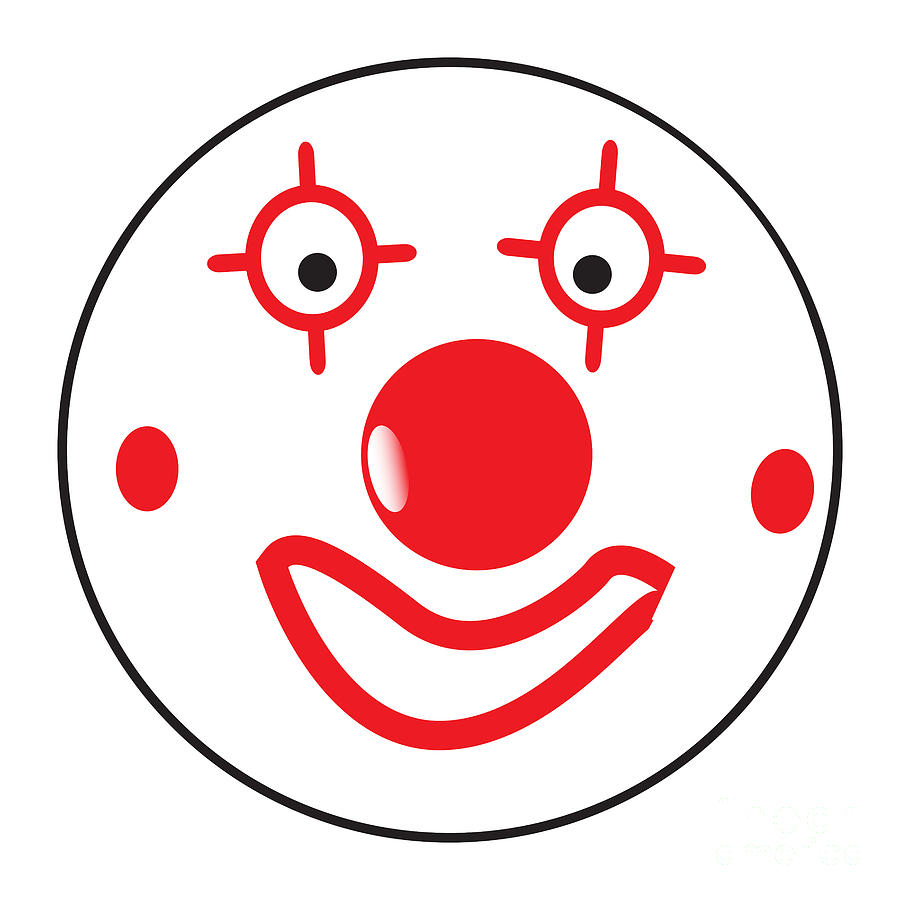 Happy Clown Smile Face Button Emoticon by Bigalbaloo Stock