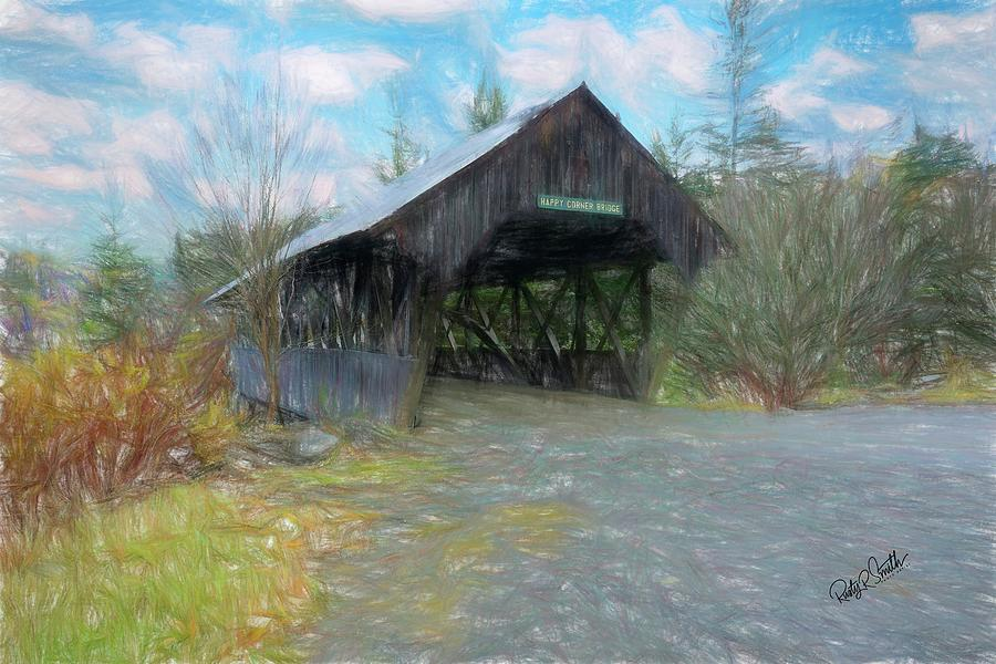 Happy Corner Covered Bridge Pittsburg New Hampshire. by Rusty R Smith