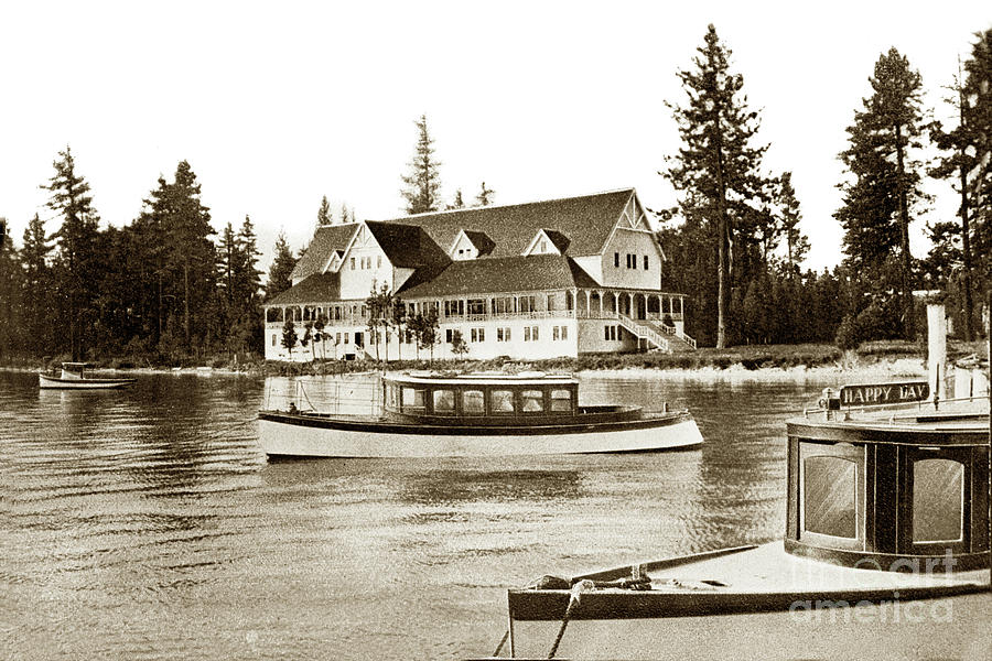 Happy Day Boat on Lake Tahoe Tallac, California Circa 1920 by California Views Archives Mr Pat Hathaway Archives