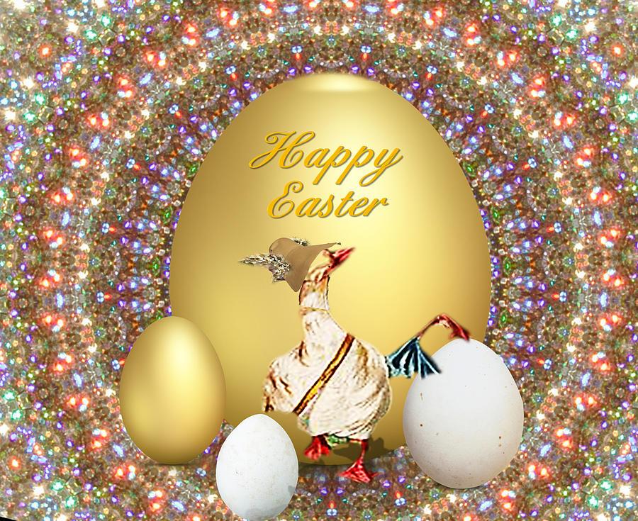 Happy Easter Mixed Media