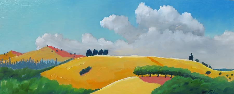 Happy Hillscape Painting