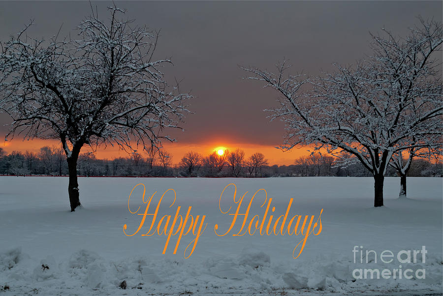 Happy Holidays - Tree Pair by Len Tauro