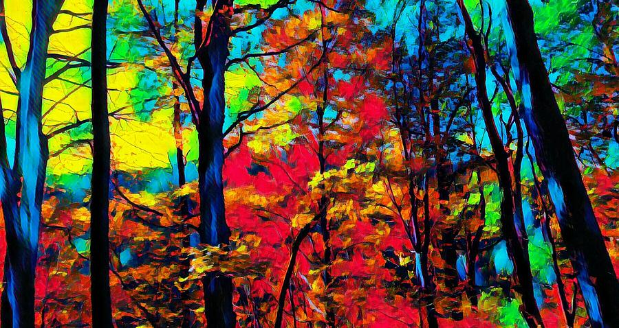 Happy Little Colorful Forest by Ally White