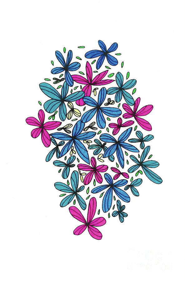 Happy Little Flowers Drawing