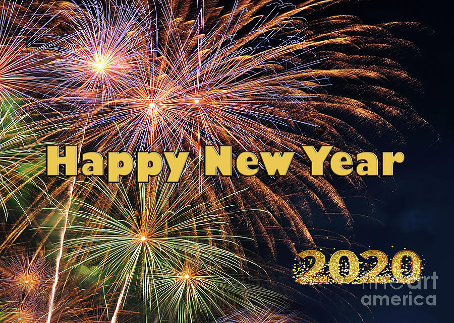 Happy New Year 2020 by Kaye Menner by Kaye Menner