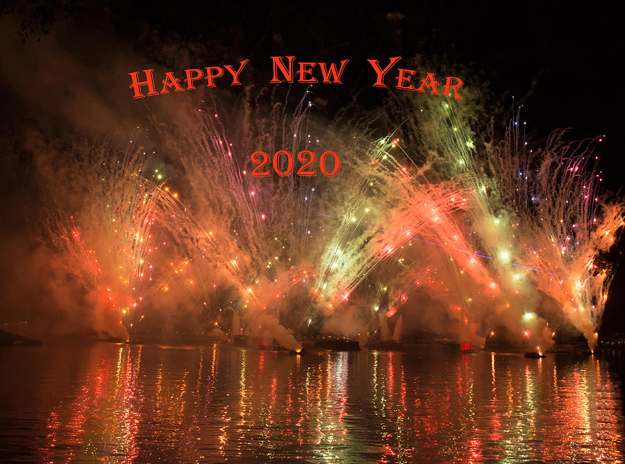Happy New Year 2020 Firework by Zina Stromberg