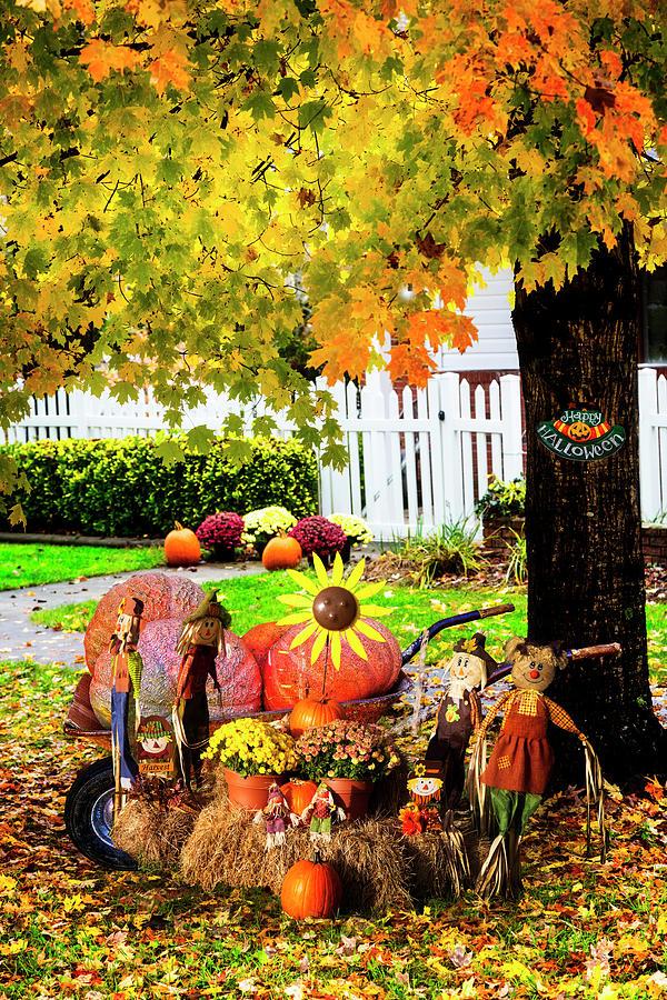 Happy Scarecrows by Debra and Dave Vanderlaan