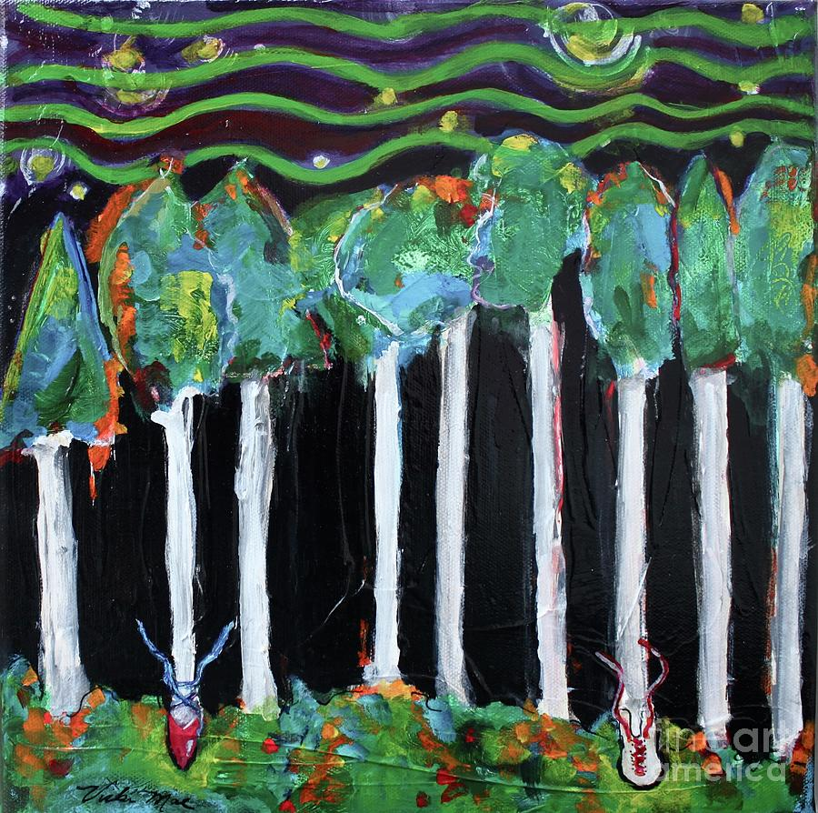 Happy Trees Painting - Happy Trees by Vicki Mae