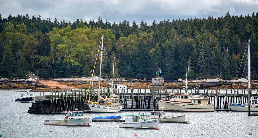 Harbor In Maine by Paul Freidlund