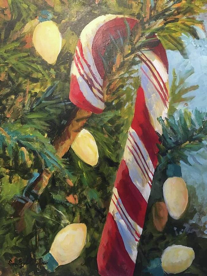 Hard Candy Christmas Painting