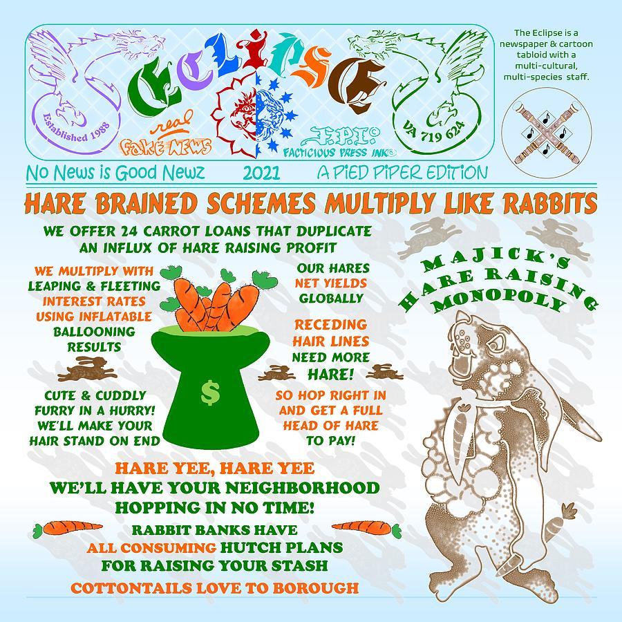 Hare Brained Mixed Media