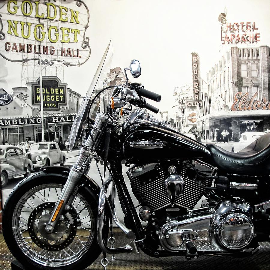 Harley Davidson Old Las Vegas by Gigi Ebert
