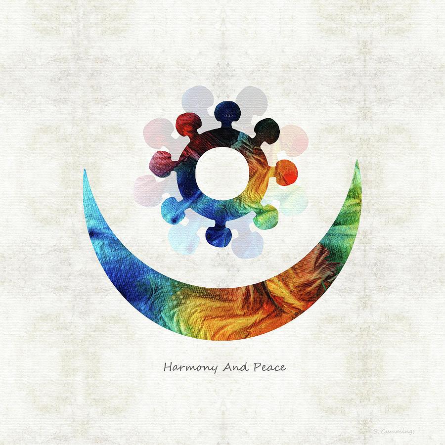 Harmony Symbol Painting - Harmony and Peace Symbol - Native American Art - Sharon Cummings by Sharon Cummings