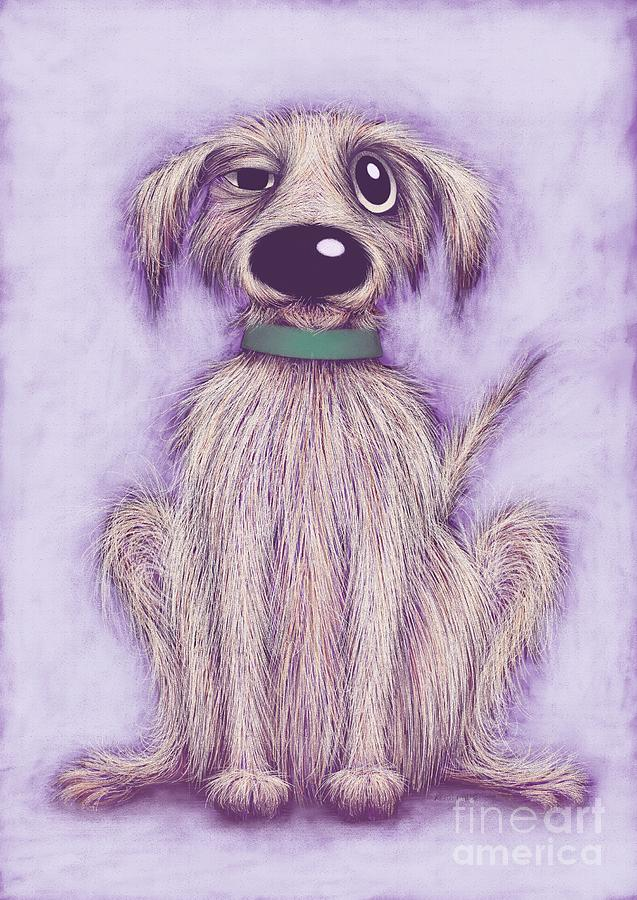 Harold Digital Art - Harold The Dog by Keith Mills