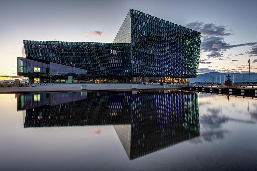 Harpa Concert Hall In Reykjavik Iceland Photograph
