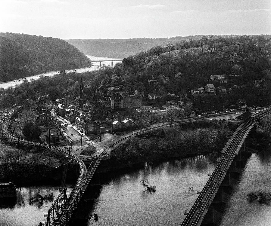 Harpers Ferry From Maryland Heights C1973 Photograph