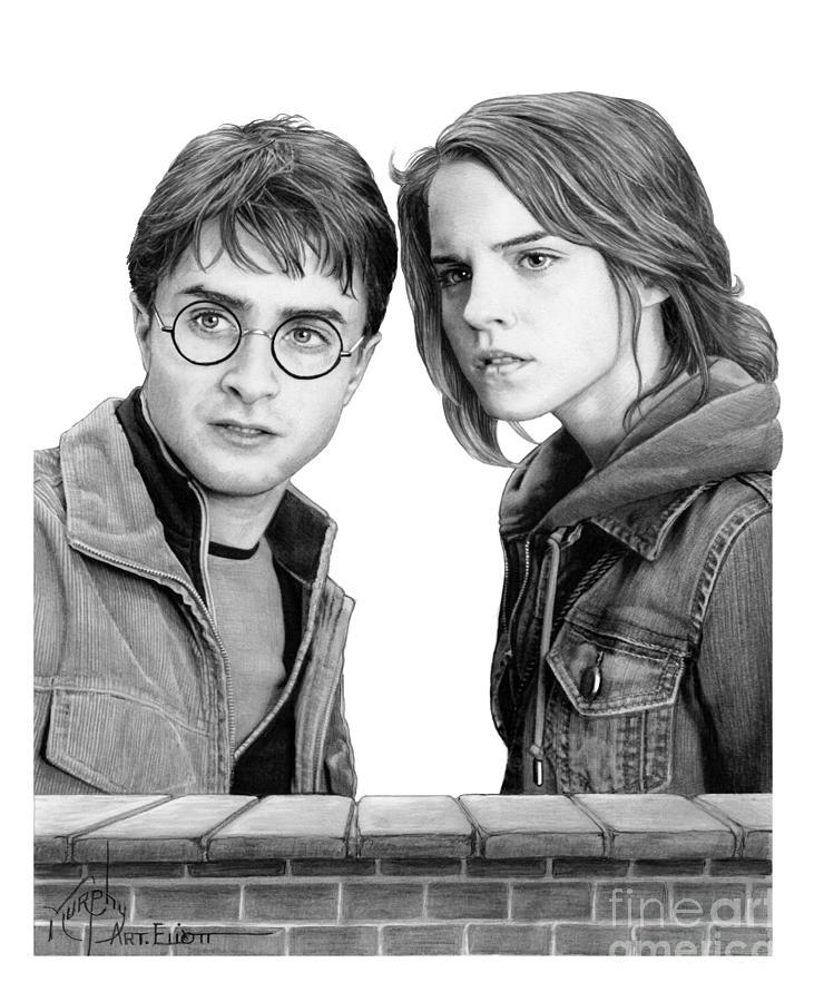 Harry Potter Hermione Granger by Murphy Art Elliott