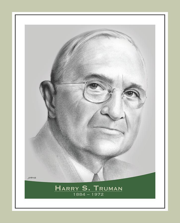 Harry S Truman Drawing - Harry S Truman - pencil by Greg Joens