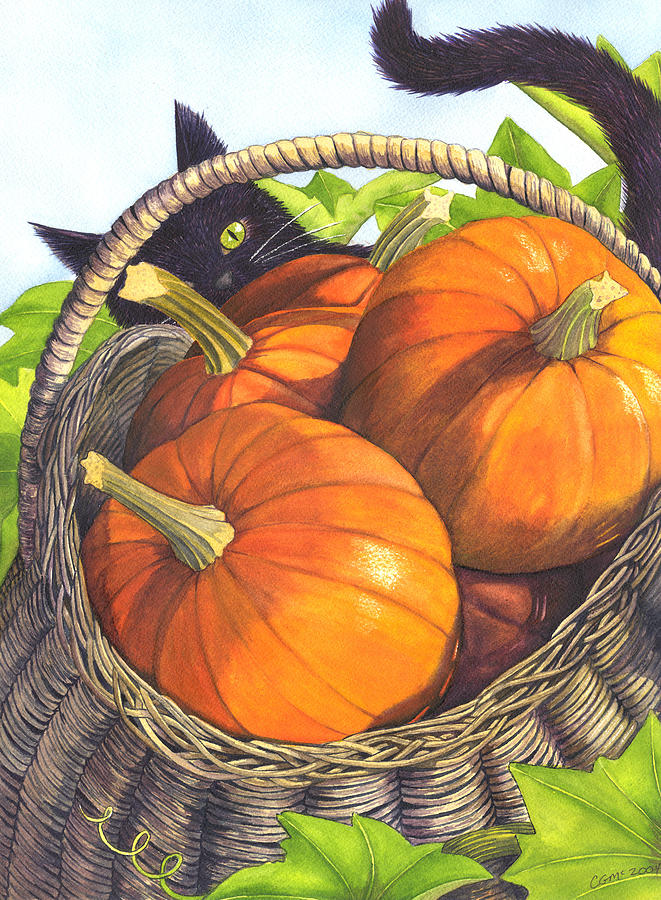Pumpkin Painting - Harvest by Catherine G McElroy