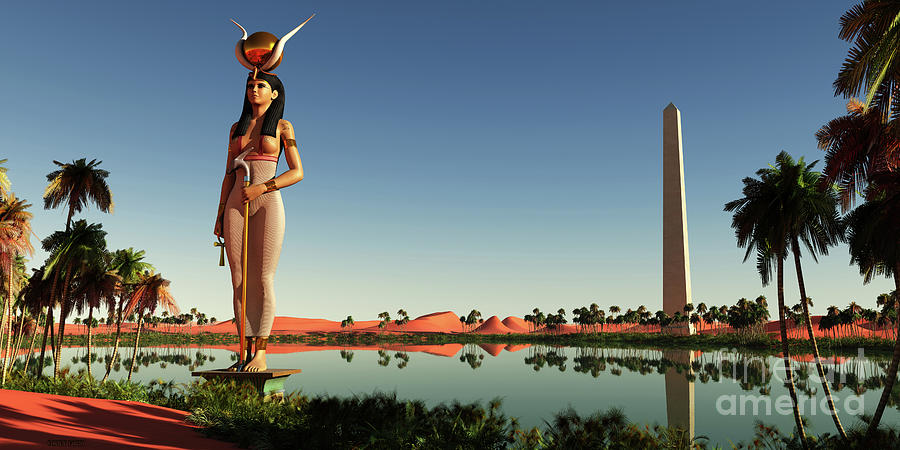 Hathor Statue in Egypt by Corey Ford