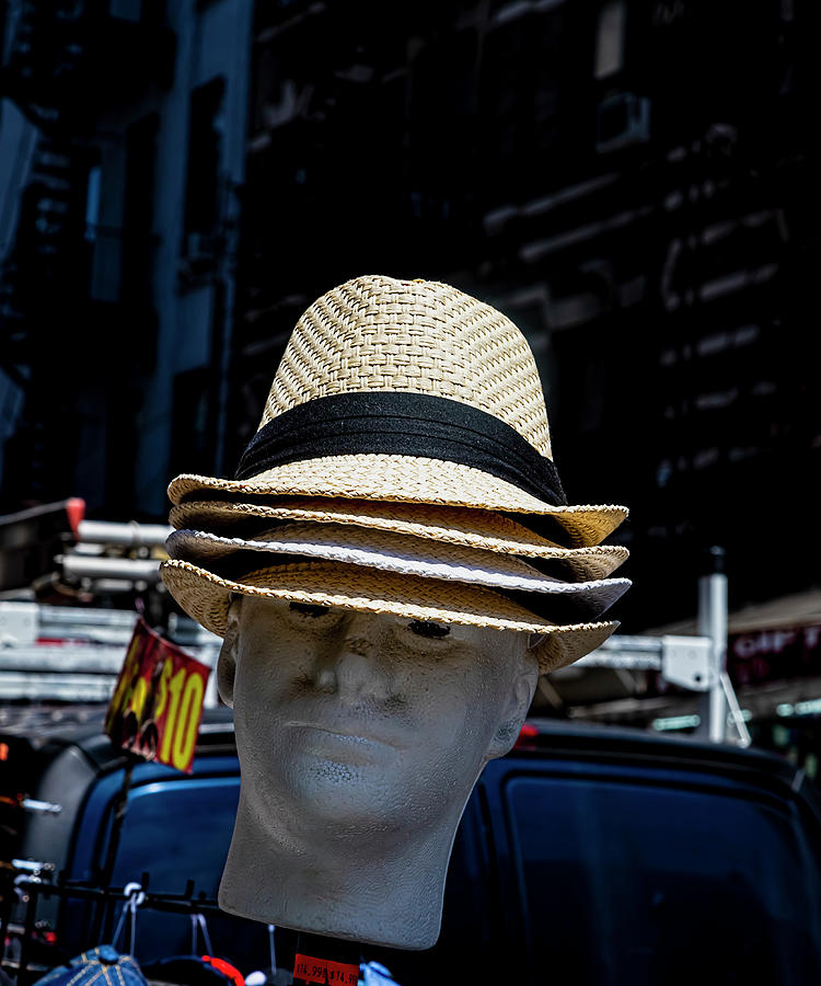 Hats Photograph - Hats for Sale Chinatown NYC by Robert Ullmann