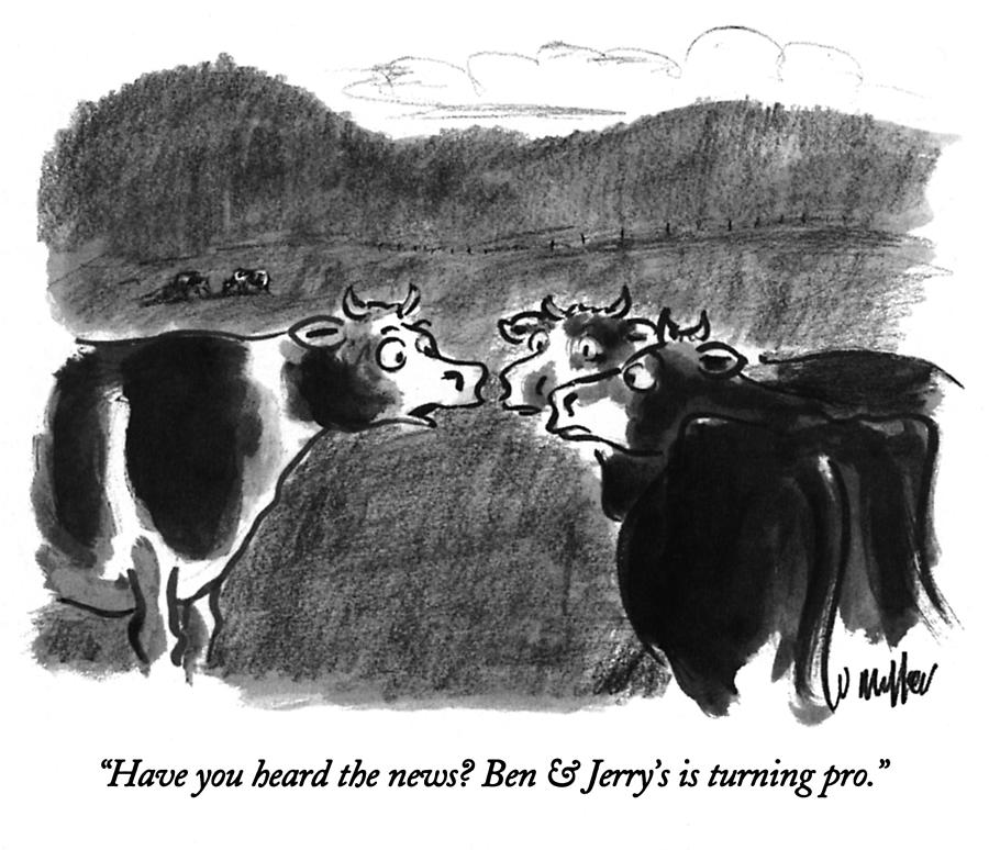 Have You Heard The News? Drawing by Warren Miller