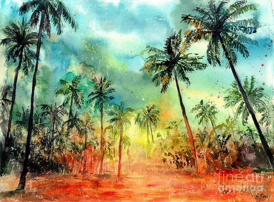 Watercolor Painting - Hawaiian Summer by Suzann Sines