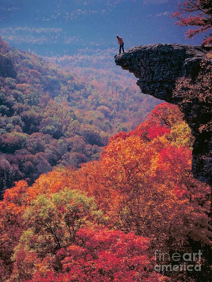 Hawksbill Crag Photograph - Hawksbill Crag Arkansas by Garry McMichael