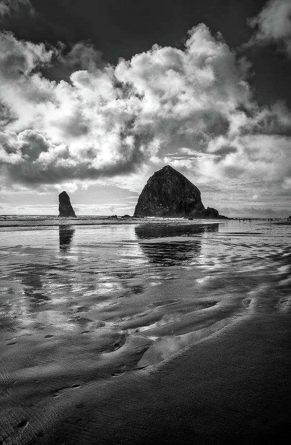 Haystack Rock at Cannon Beach by Carolyn Derstine