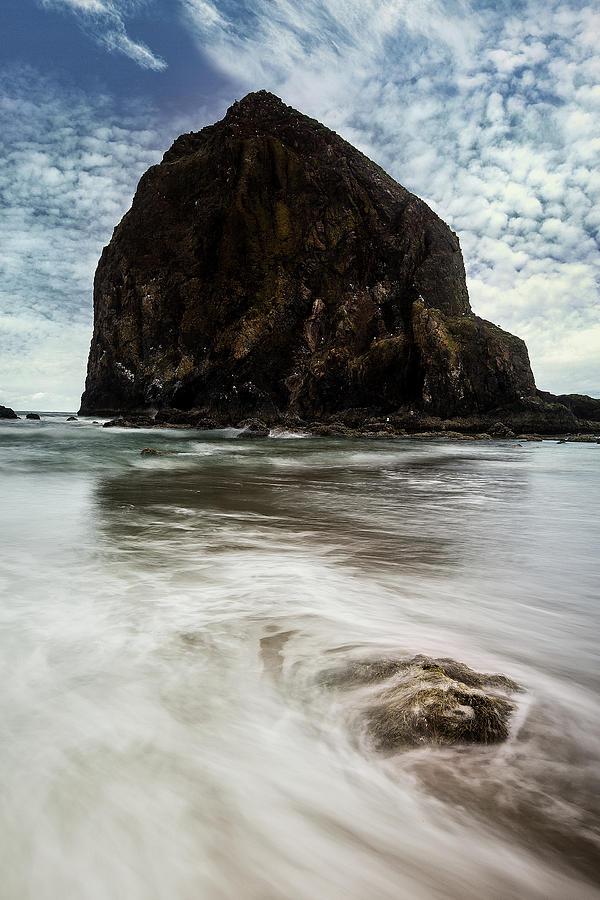 Haystack Rock In Oregon Photograph