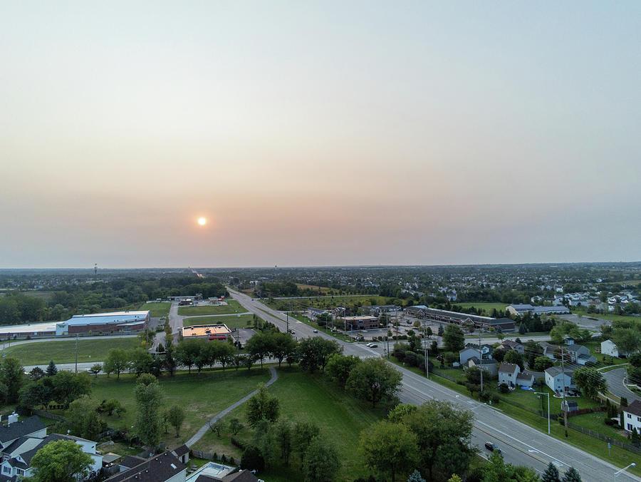 Hazy Sunrise Over Illinois Photograph