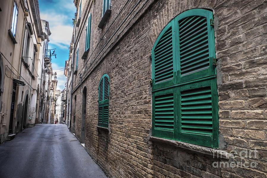 hdr deep narrow alley ground floor window house by Luca Lorenzelli