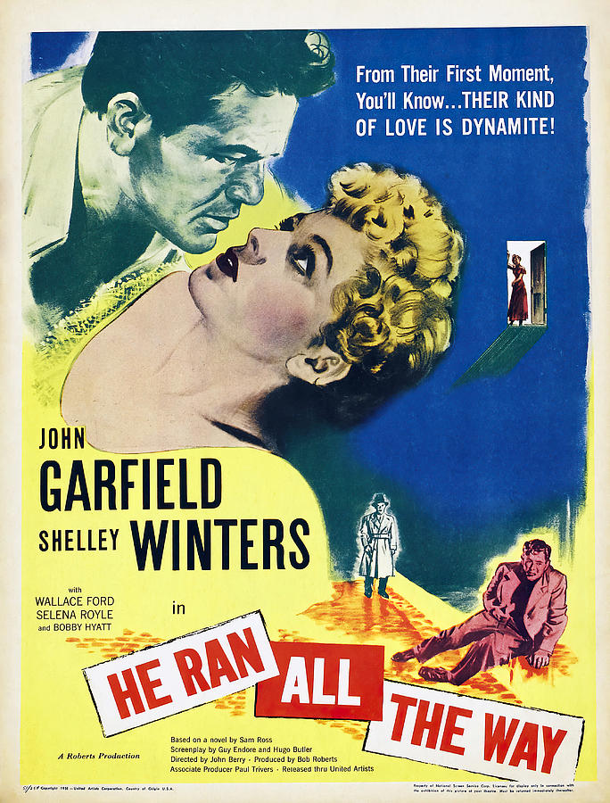 he Ran All The Way, With John Garfield And Shelley Winters, 1951 Mixed Media