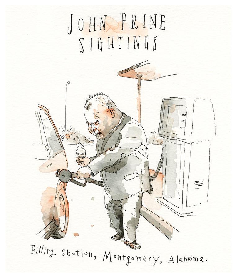 He Walks Among Us 1 Drawing by Barry Blitt