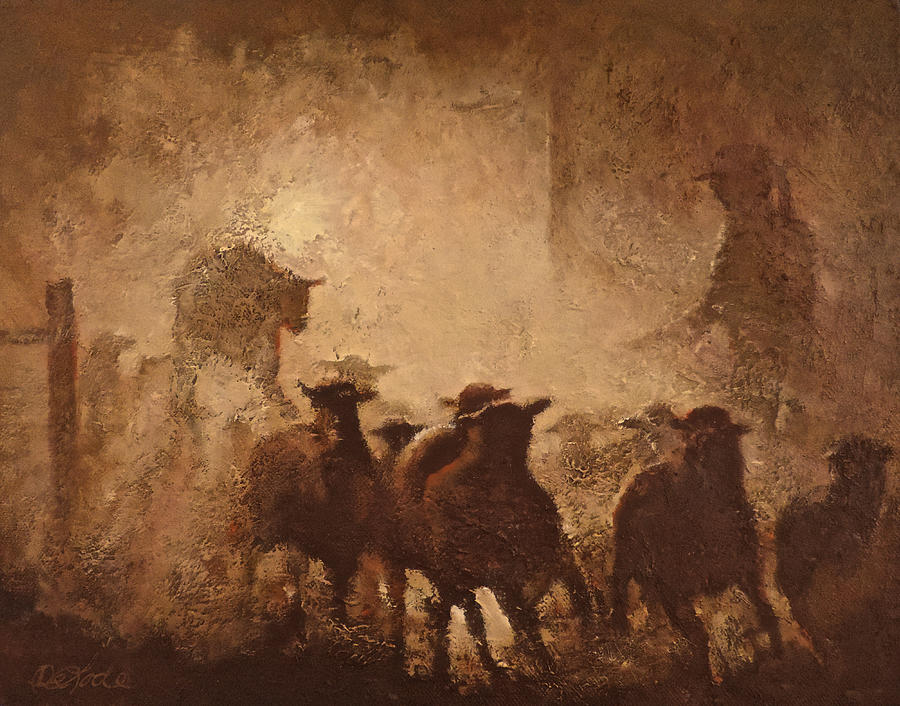 Sheep Painting - Head Count by Mia DeLode