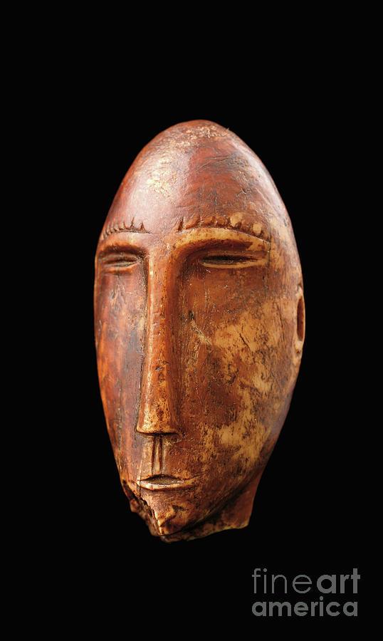 Eskimo Sculpture - Head, Old Bering Sea, Okvik Culture  by Okvik Culture