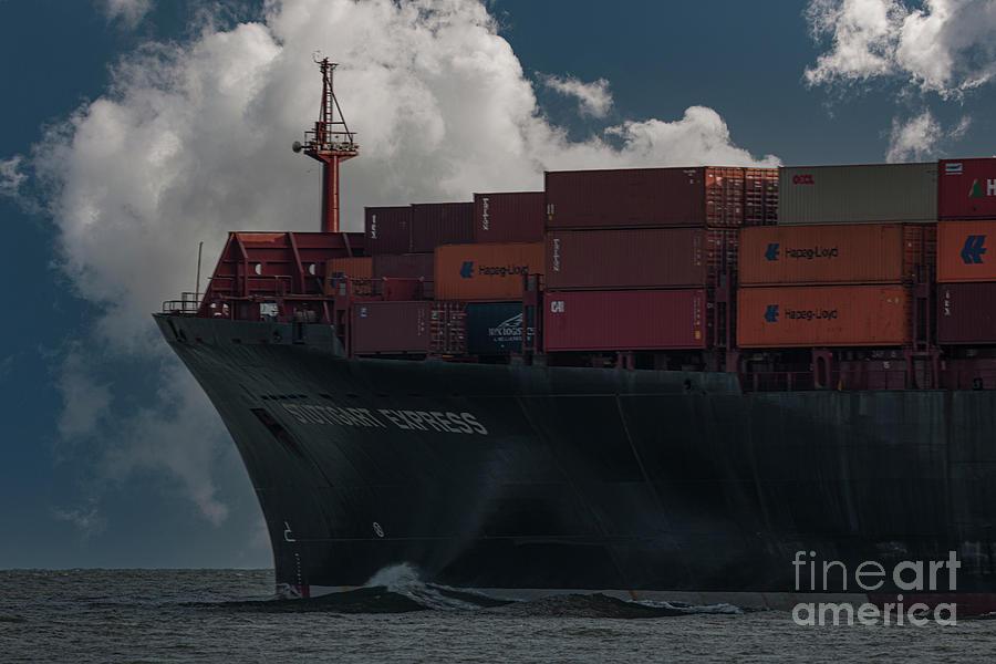Headed To Sea - Charleston Harbor - Channel Photograph