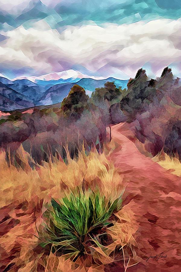 Pike's Peak Digital Art - Head_For_The_Peak_20210226 by Joseph Liberti