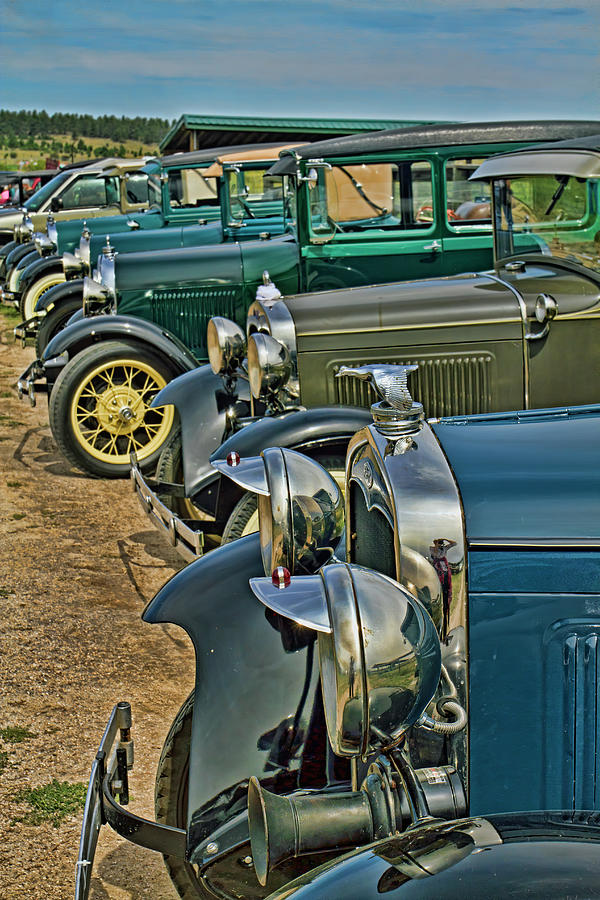 Headlights and Hood Ornaments Photograph by Alana Thrower