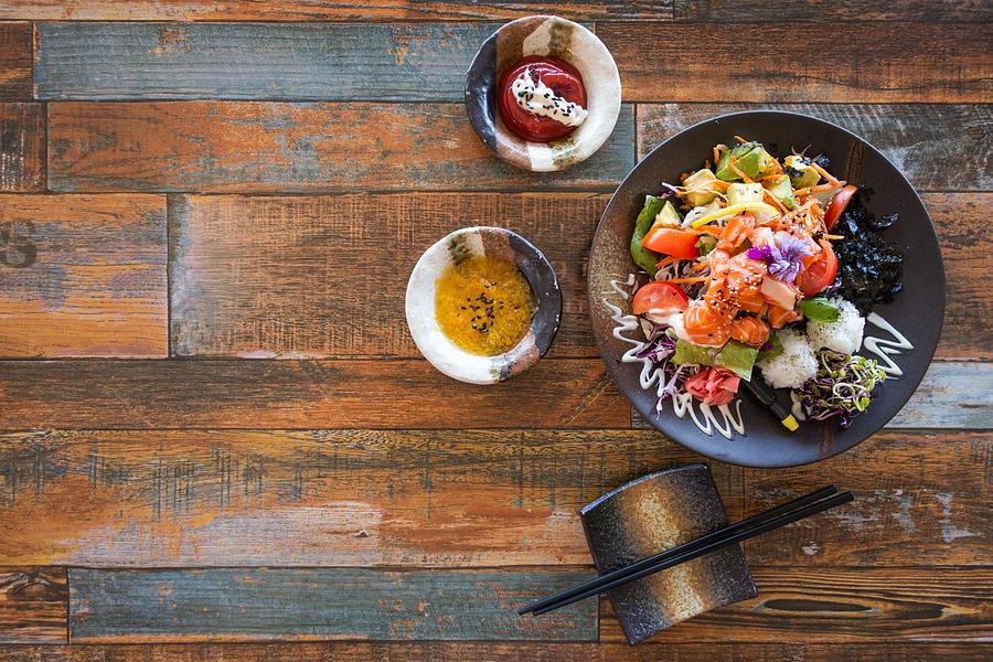 Healthy Salmon Salad. Photograph by Nazar_ab