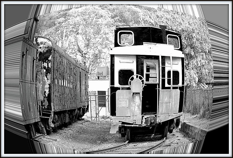 Train Photograph - Hear Comes The Train by Constance Lowery