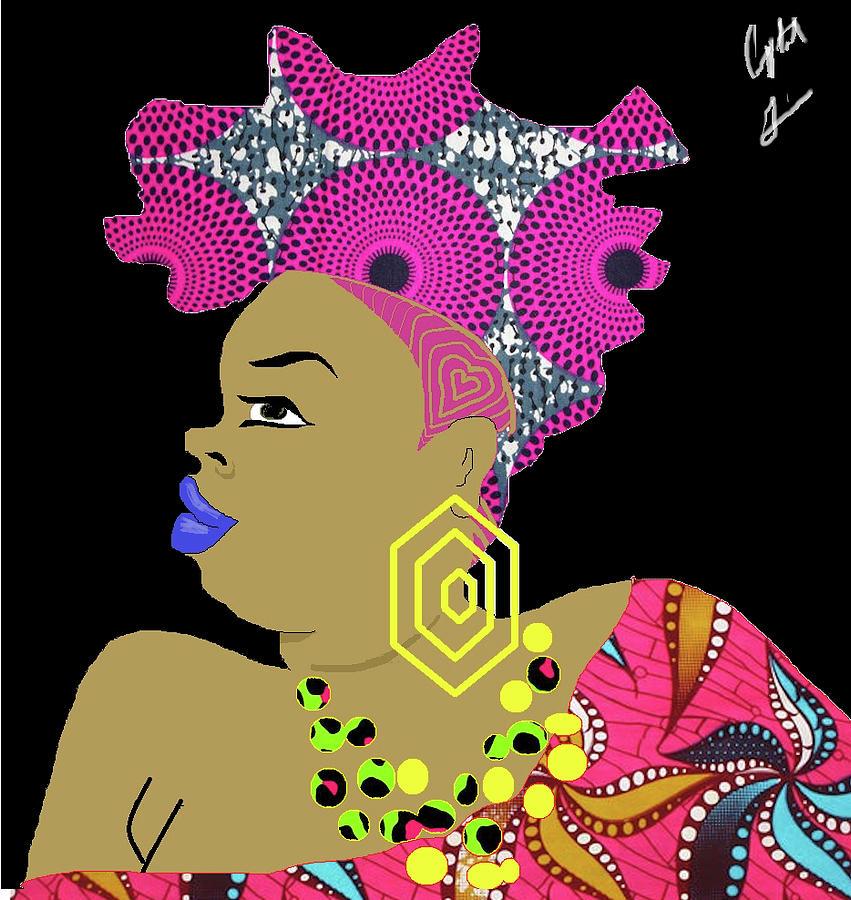 Black Girl Digital Art - Heart by Crystal Guidry